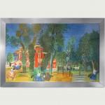 Le paddock à Deauville. Lithograph. Mourlot lithographe. 62x100cm –        1600 €