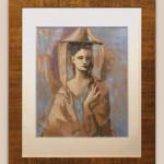 Jeune femme de Majorque 1954. callichromie. 5900€