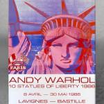 «10 statues of liberty– Lavignes-Bastille, Paris» copyright Andy Warhol. 100x68cm