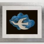 L'oiseau bleu (1953) lithograph . Mourlot Lithographe. 56x41 cm.              1600 €