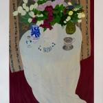 Le lilas du jardin/3 bouquets. Lithographie 87 x 109 cm – 1400 €