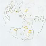 Le faune musicien. Lithograph. Mourlot Lithographe. 34x40. 1200E