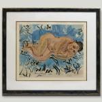 Nu couché 1930. Lithograph. Mourlot Lithographe 46x55cm.                1200€