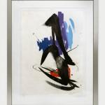 Composition. Gravure en couleur. Numérotée 63/99. 2200E