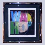 (Richard DUARDO: 2002 Portrait d'Andy Warhol. Lithographie en couleur 40x40cm. Signé en bas à droite.) 2600 €