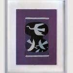 Trois oiseaux sur fond violet. 1964. Lithograph. Maeght Edition.       700€